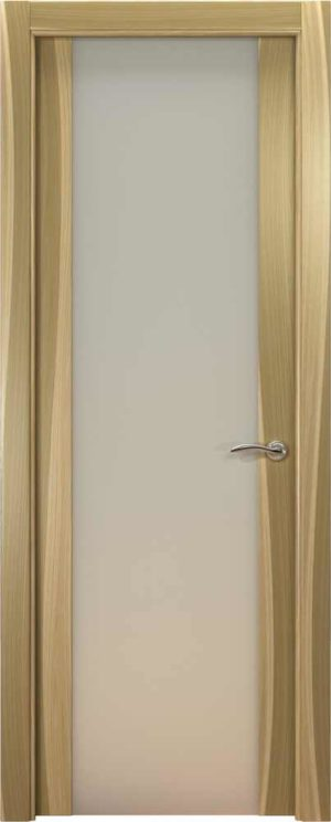 Двери Океан de Vesta P (светлый орех), стекло белое