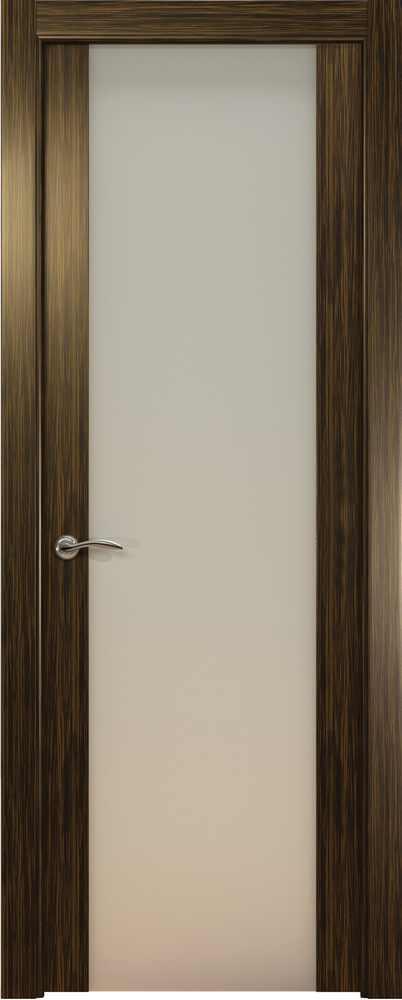 Двери Океан de Vesta P (светлый эбен), стекло белое