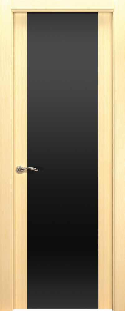 Двери Океан de Vesta P (беленый дуб), стекло черное