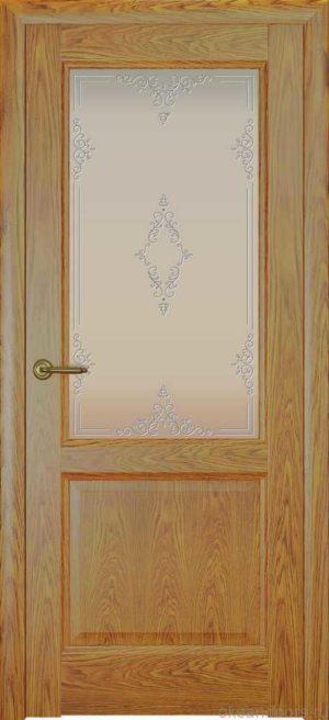 Двери Океан Парма (дуб золотой), стекло белое