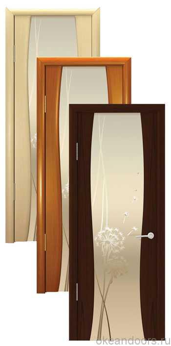 """Коллекция дверей Океан Буревестник-2 """"Одуванчик"""" (10 цветов, белое стекло)"""