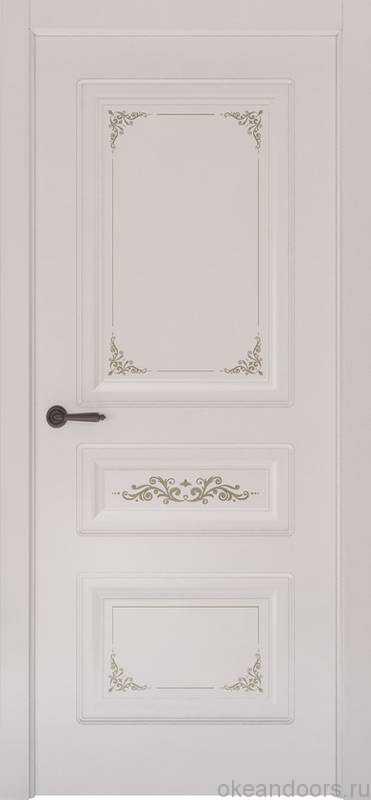 Дверь Океан Provence 3 Flora (белая эмаль, глухая)