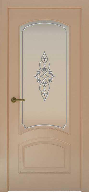 Дверь Provence 4 (капучино, стекло белое Арабеска)