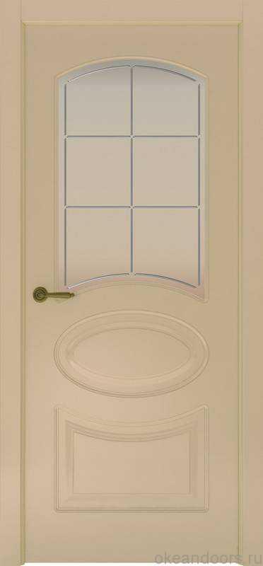 Дверь Provence 1 (слоновая кость, стекло белое Решетка)