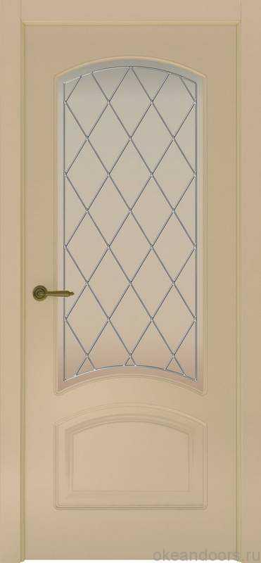 Дверь Provence 4 (слоновая кость, стекло белое Ромб)