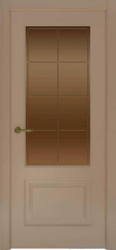 Дверь Provence 2 (мокко, стекло бронзовое Решетка)
