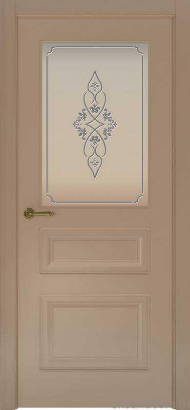 Дверь Provence 3 (мокко, стекло белое Арабеска)