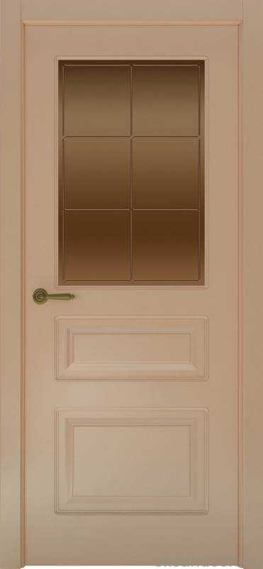 Дверь Provence 3 (капучино, стекло бронзовое Решетка)