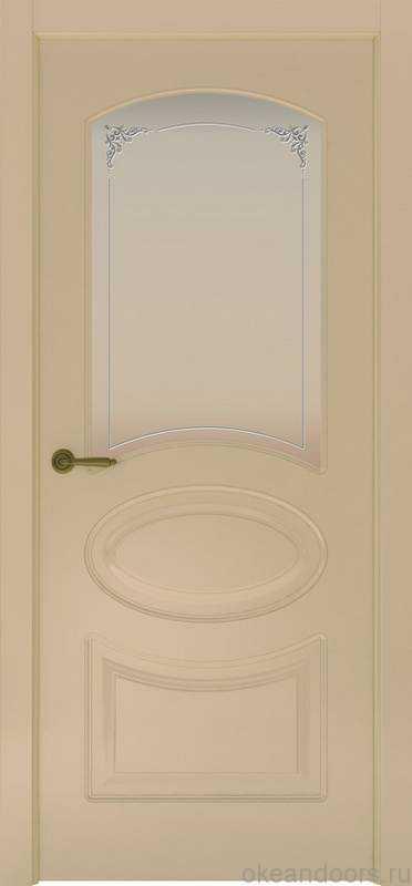 Дверь Provence 1 (слоновая кость, стекло белое Виола)