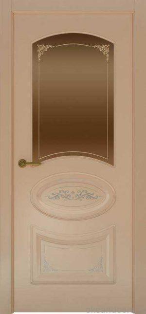 Дверь Provence 1 Flora (капучино, стекло бронзовое)