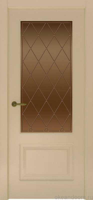 Дверь Provence 1 (слоновая кость, стекло бронзовое Ромб)