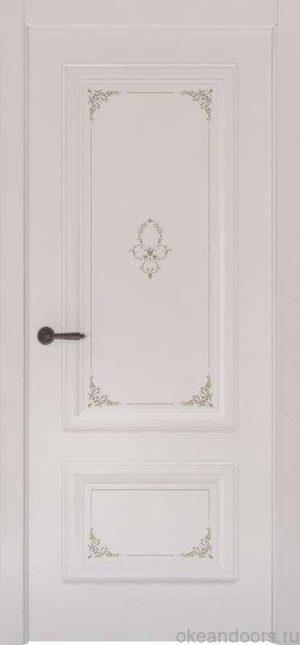 Дверь Океан Provence 2 Flora (белая эмаль, глухая)