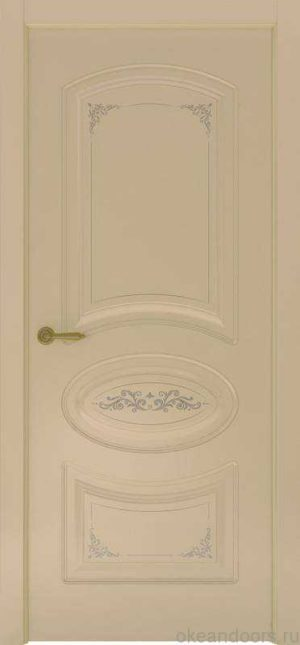 Дверь Океан Provence 1 Flora (слоновая кость, глухая)