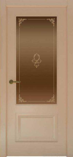 Дверь Provence 2 (капучино, стекло бронзовое Виола)