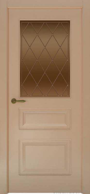Дверь Provence 3 (капучино, стекло бронзовое Ромб)