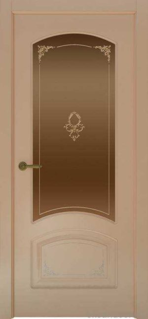 Дверь Provence 4 Flora (капучино, стекло бронзовое)