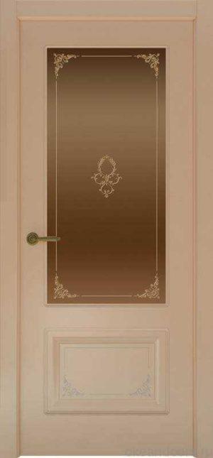 Дверь Океан Provence 2 Flora (капучино, бронзовое стекло)