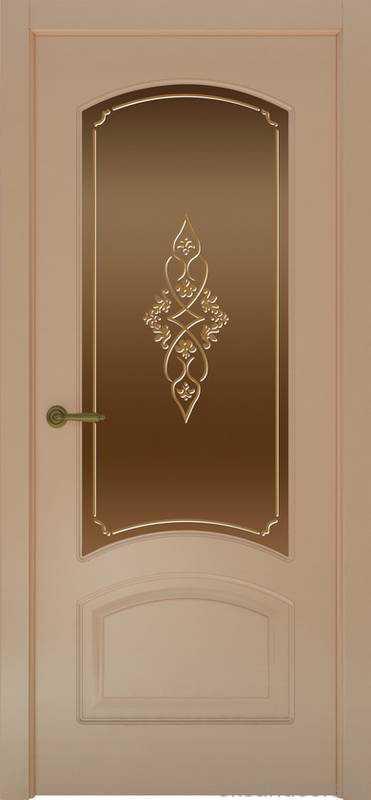 Дверь Provence 4 (капучино, стекло бронзовое Арабеска)