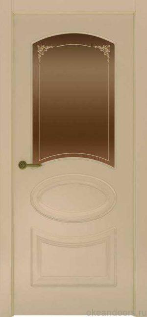 Дверь Provence 1 (слоновая кость, стекло бронзовое Виола)