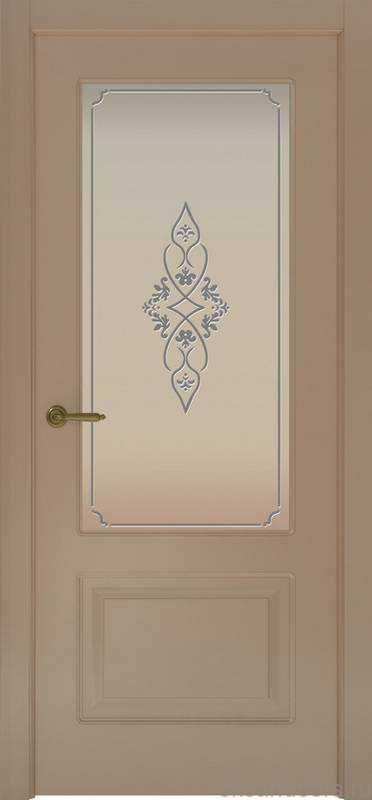 Дверь Provence 2 (мокко, стекло белое Арабеска)