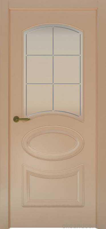 Дверь Provence 1 (капучино, стекло белое Решетка)