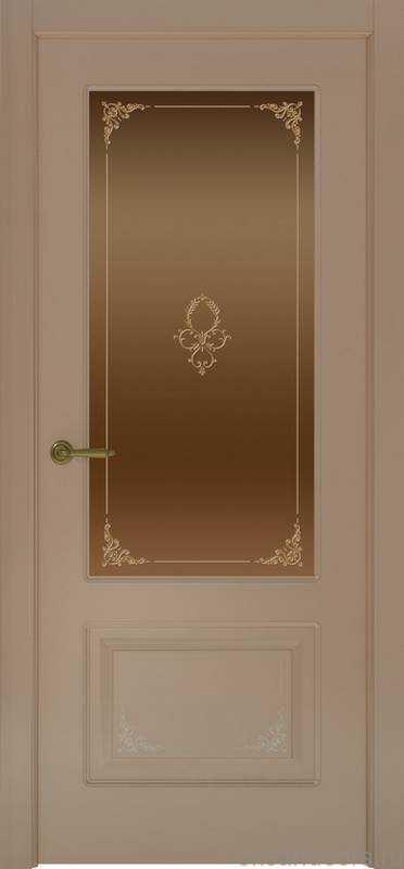 Дверь Океан Provence 2 Flora (мокко, бронзовое стекло)