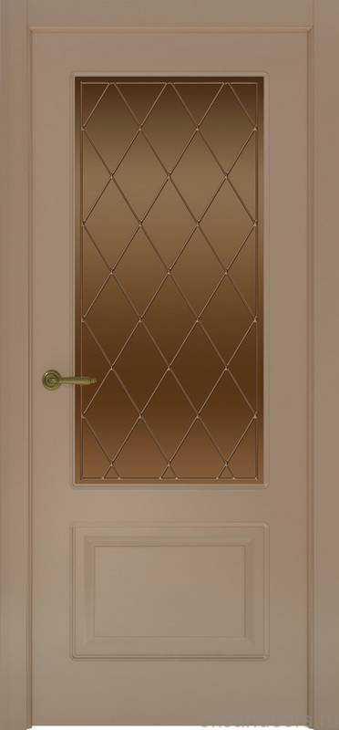 Дверь Provence 2 (мокко, стекло бронзовое Ромб)