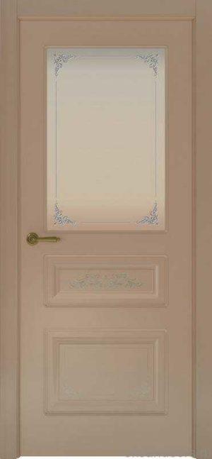 Дверь Океан Provence 3 Flora (мокко, белое стекло)