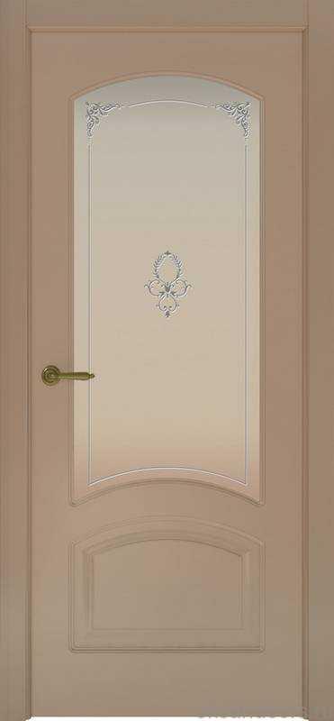Дверь Provence 4 (мокко, стекло белое Виола)