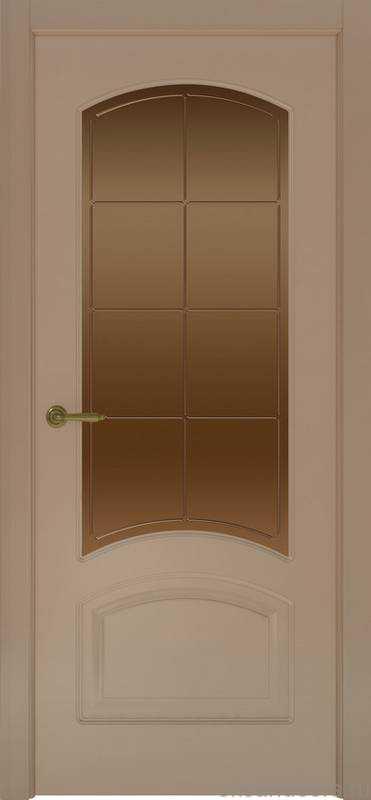 Дверь Provence 4 (мокко, стекло бронзовое Решетка)
