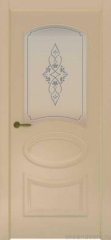 Дверь Provence 1 (слоновая кость, стекло белое Арабеска)