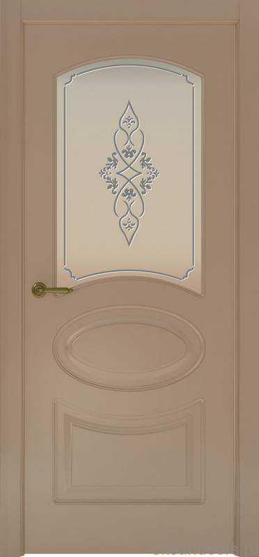 Дверь Provence 1 (мокко, стекло белое Арабеска)