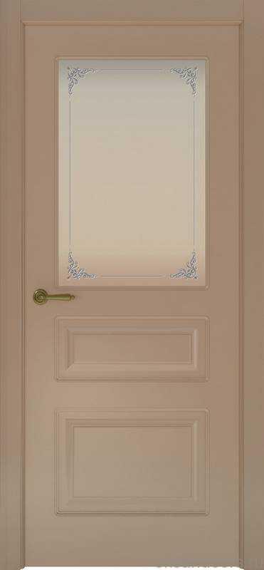Дверь Provence 3 (мокко, стекло белое Виола)