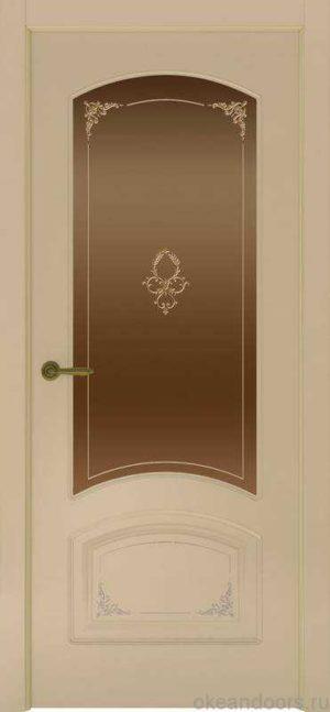 Дверь Provence 4 Flora (слоновая кость, стекло бронзовое)