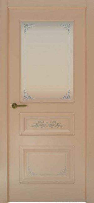 Дверь Океан Provence 3 Flora (капучино, белое стекло)