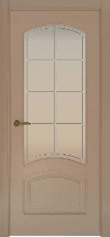Дверь Provence 4 (мокко, стекло белое Решетка)