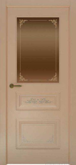 Дверь Океан Provence 3 Flora (капучино, бронзовое стекло)