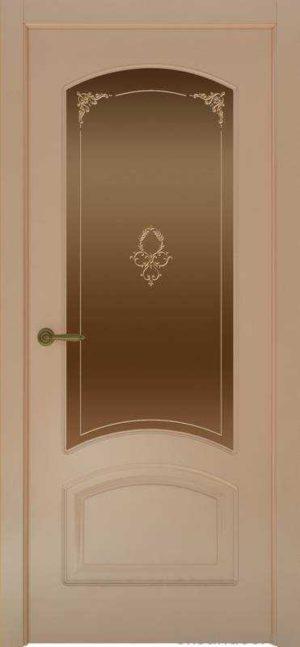Дверь Provence 4 (капучино, стекло бронзовое Виола)