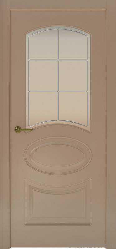 Дверь Provence 1 (мокко, стекло белое Решетка)