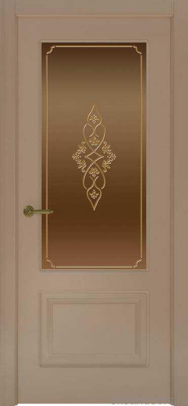 Дверь Provence 2 (мокко, стекло бронзовое Арабеска)