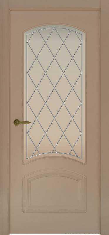 Дверь Provence 4 (мокко, стекло белое Ромб)