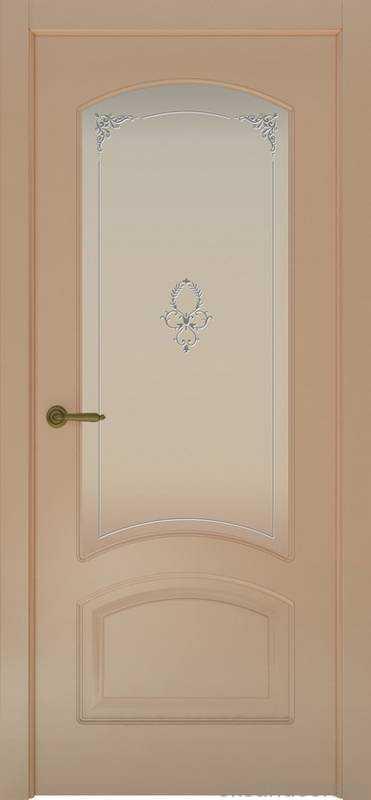 Дверь Provence 4 (капучино, стекло белое Виола)