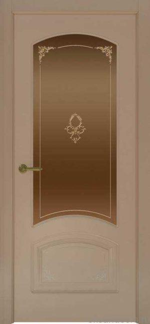 Дверь Provence 4 Flora (мокко, стекло бронзовое)