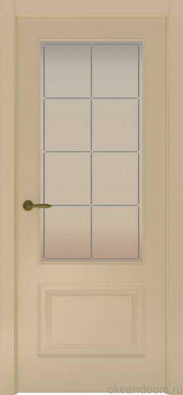 Дверь Provence 2 (слоновая кость, стекло белое Решетка)