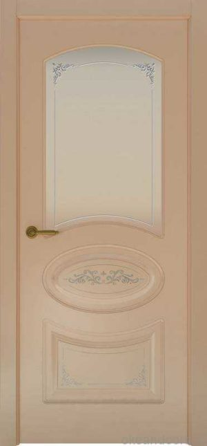 Дверь Provence 1 Flora (капучино, стекло белое)
