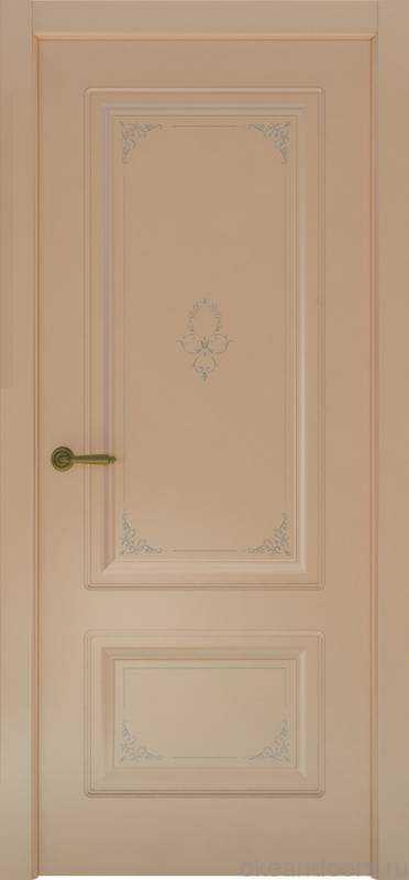 Дверь Океан Provence 2 Flora (капучино, глухая)
