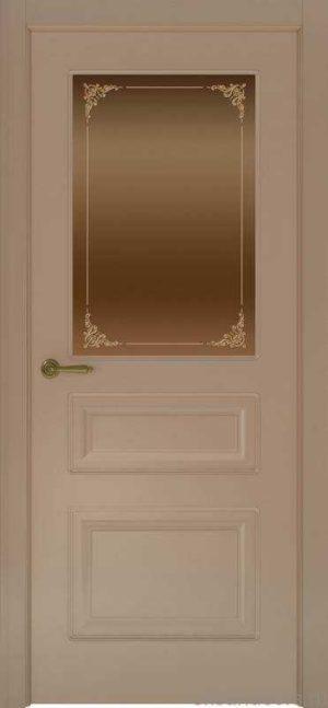 Дверь Provence 3 (мокко, стекло бронзовое Виола)