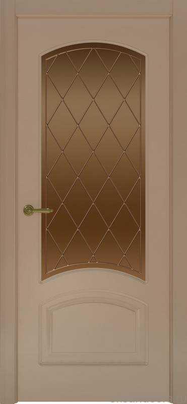 Дверь Provence 4 (мокко, стекло бронзовое Ромб)