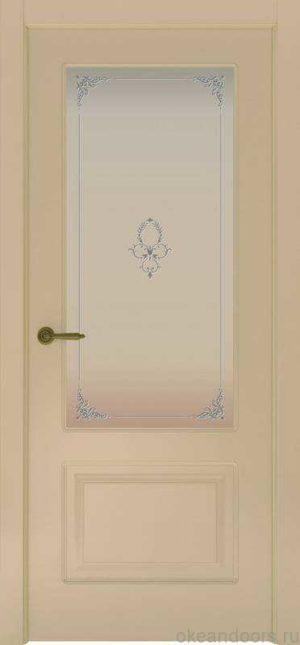 Дверь Provence 2 (слоновая кость, стекло белое Виола)