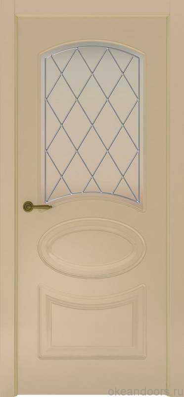 Дверь Provence 1 (слоновая кость, стекло белое Ромб)